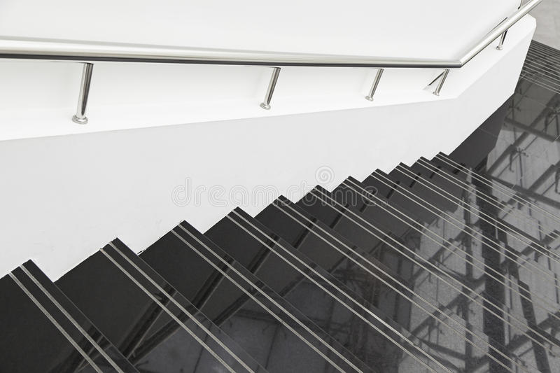 Black marble stairs stock photo