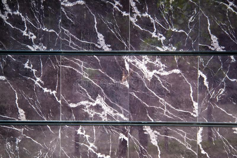 Black marble texture with delicate veins Natural pattern for backdrop or background. royalty free stock photography