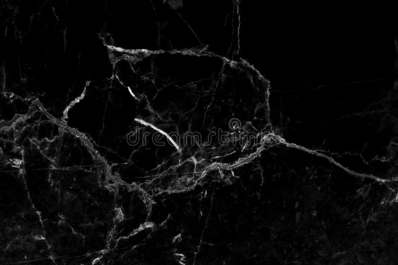 Black marble texture in natural pattern with high resolution. stock photos