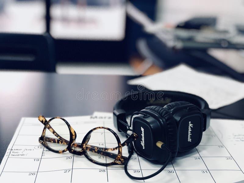 Black Marshall Headphones stock images