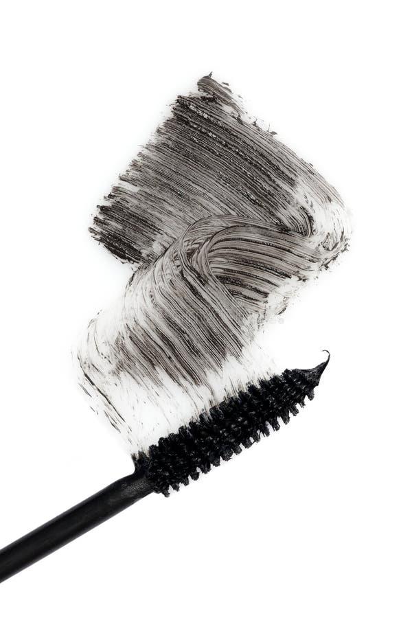 Black mascara. Macro on white background royalty free stock image