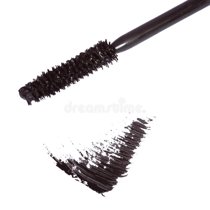 Black mascara brush stroke royalty free stock photography