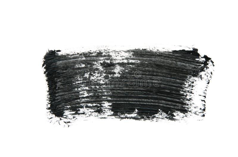 Black mascara brush strokes isolated on white. Image stock image