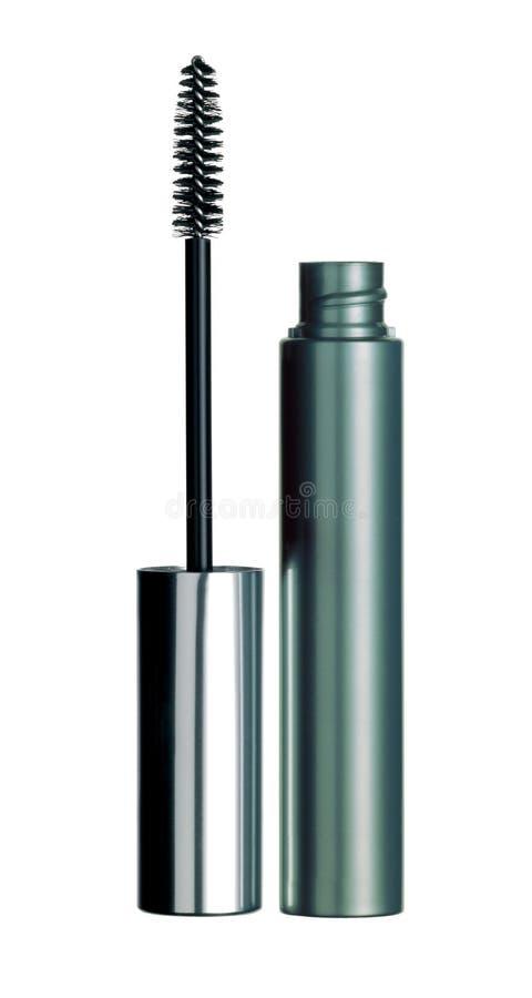 Black mascara for eyes isolated stock image