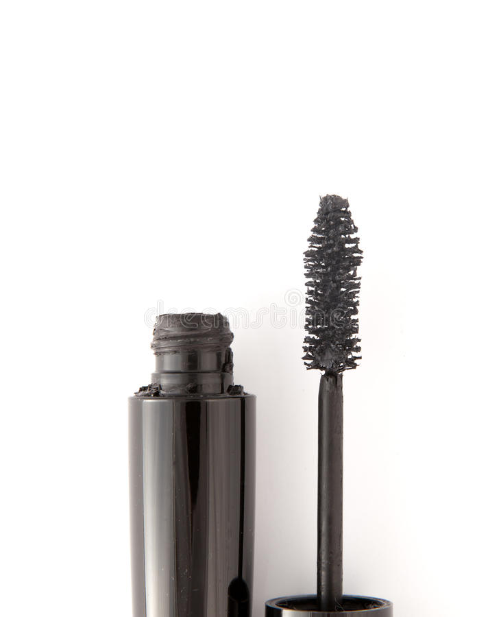Download Black Mascara On White Background Stock Photo - Image of girl, eyebrow: 15584076