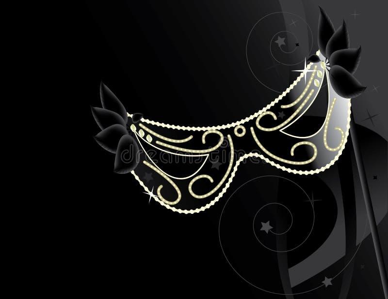 Black mask background stock illustration