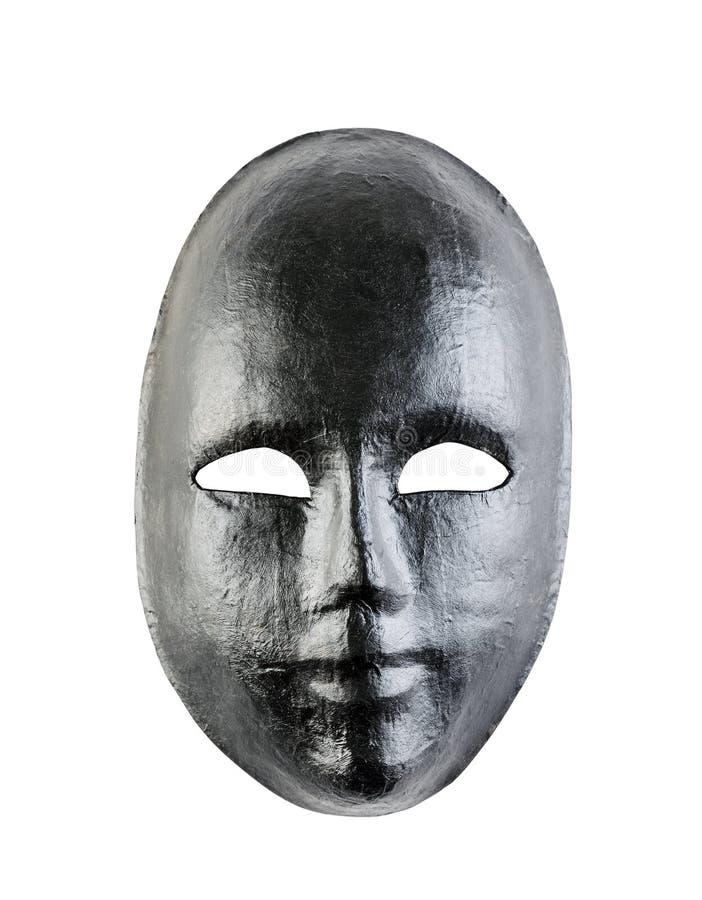 Black mask isolated on white background. Black human mask isolated on white background stock images