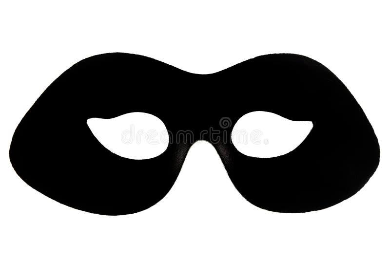 Black masquerade mask stock photo