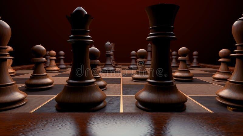 black maten för förlust för viktign för leken för slutet för schacket för brädeaffärskontrollen, metafor sommonokromen över strat royaltyfri bild