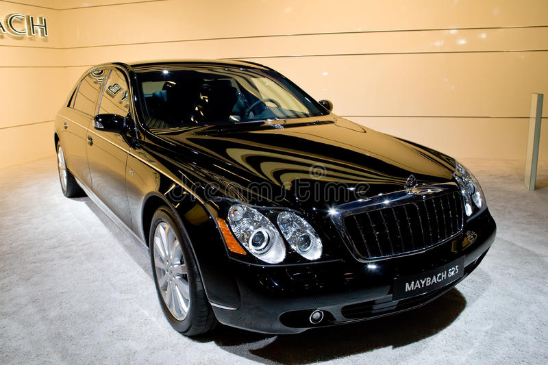 black maybach 62s editorial stock photo image of glass