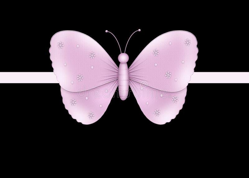 Black med lampa - purpur fjärilskortbakgrund vektor illustrationer