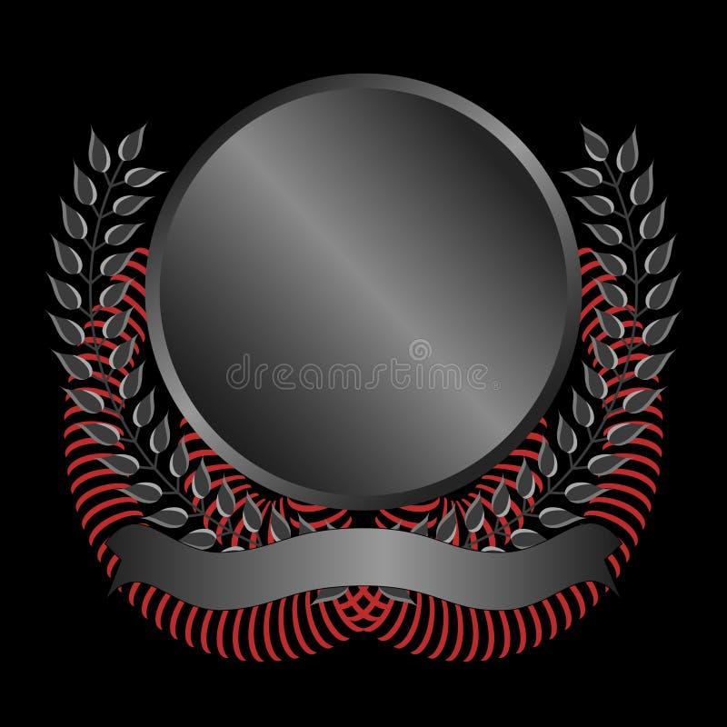 Download Black Memorial Emblem stock vector. Illustration of banner - 10173630