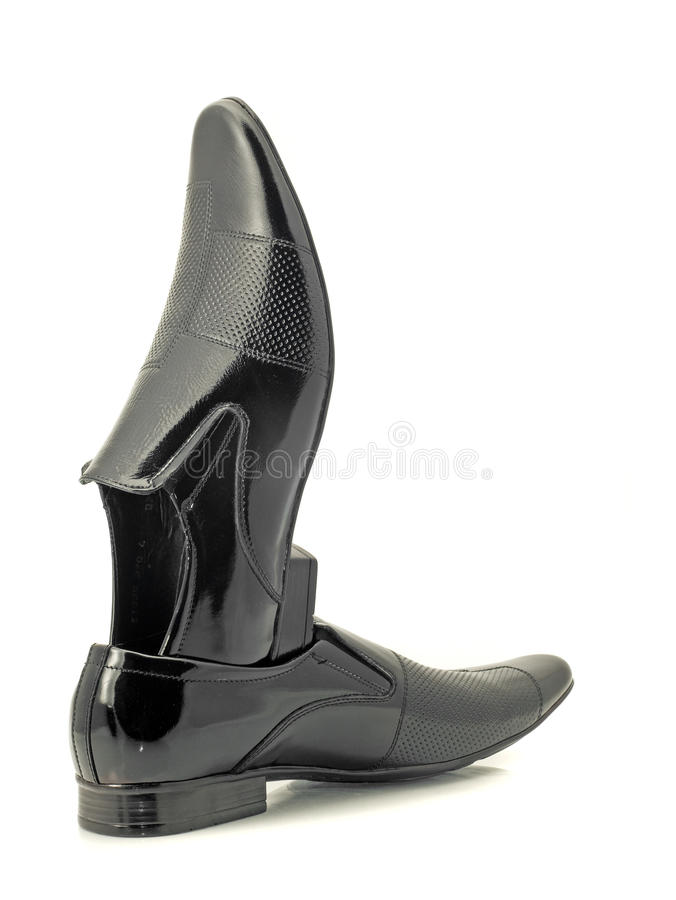 Download Black Mens Patent-leather Shoes Stock Image - Image: 15865919