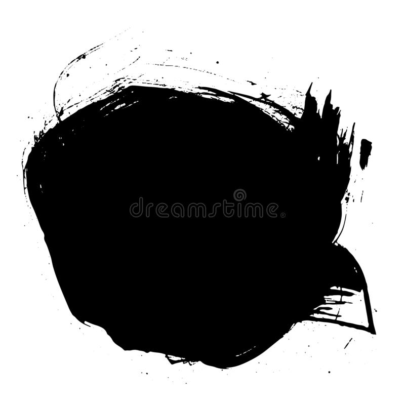 Black messy ink blot. Vector. Black messy ink blot. Textured splatter isolated on white background royalty free illustration
