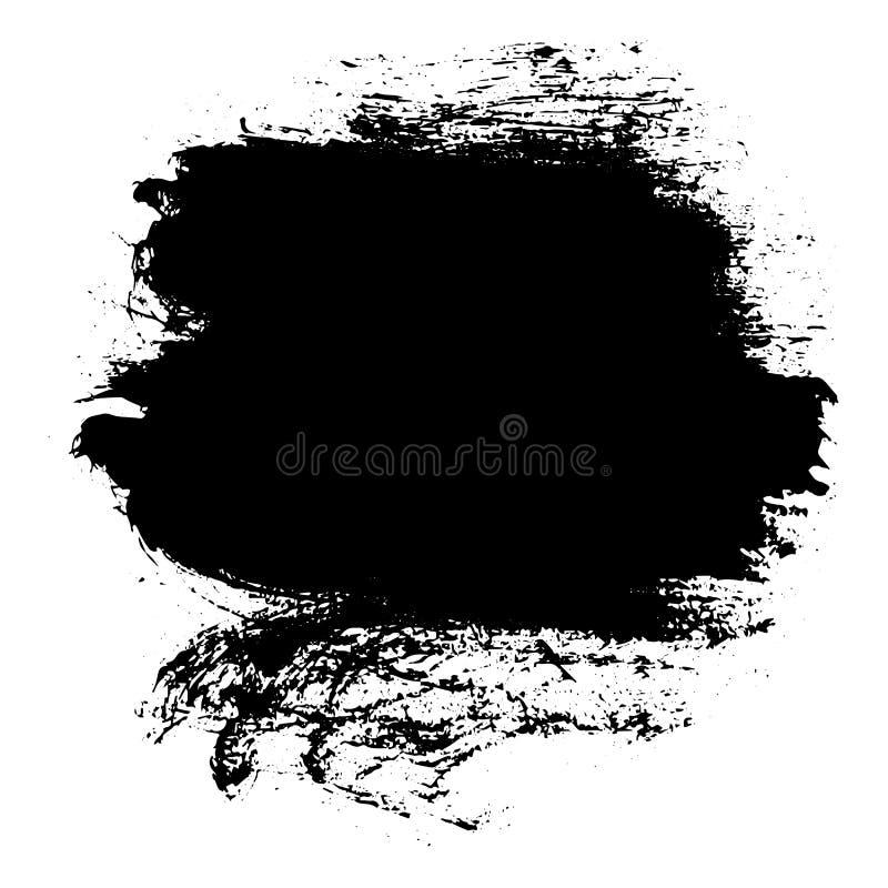 Black messy ink blot. Vector. Black messy ink blot. Textured splatter isolated on white background stock illustration