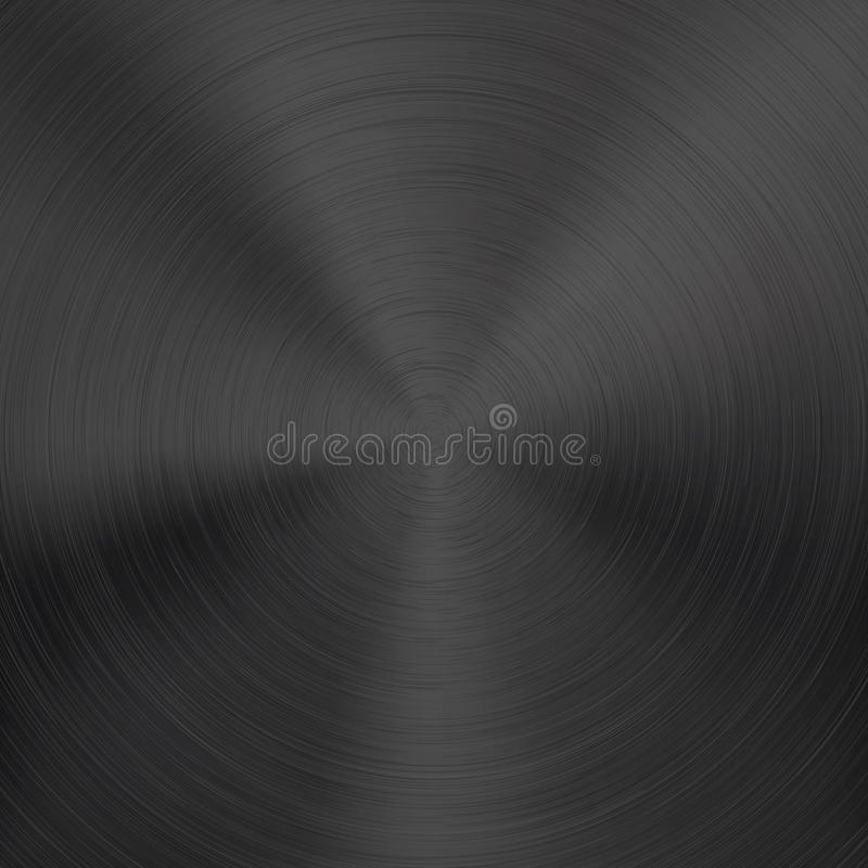 Background with Black Metal Texture royalty free illustration
