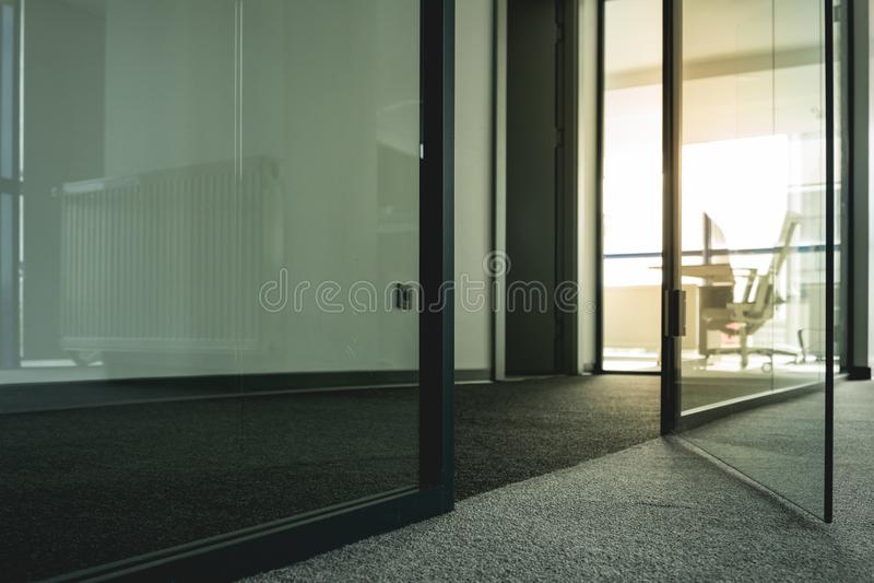Black Metal Framed Glass Door