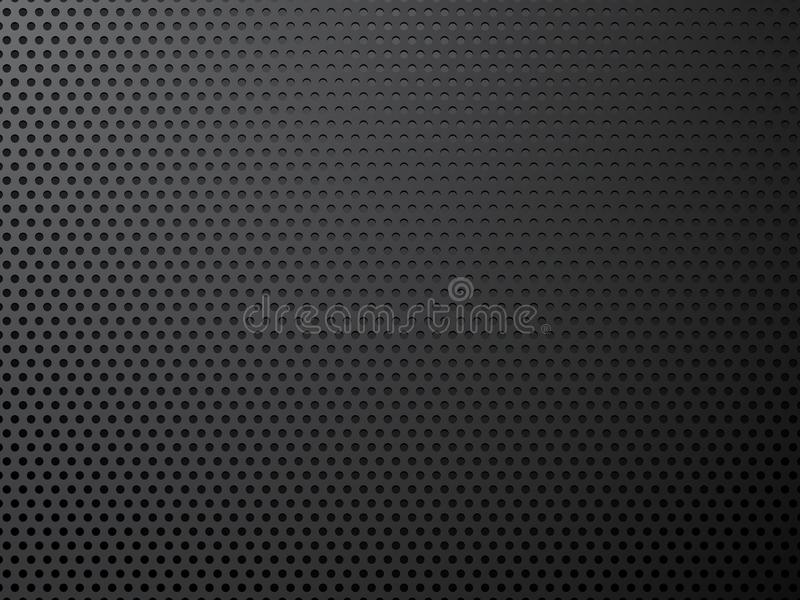 Black metal perforated background. Modern style royalty free illustration
