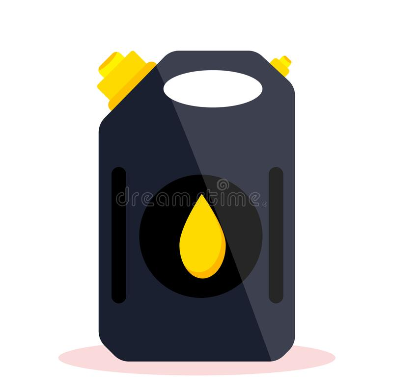 Petrol gas service. Station set. Flat vector illustrations icon. Isolated on white. Attributes of gas station: canister, petrol pump, car repairs, fast food royalty free illustration