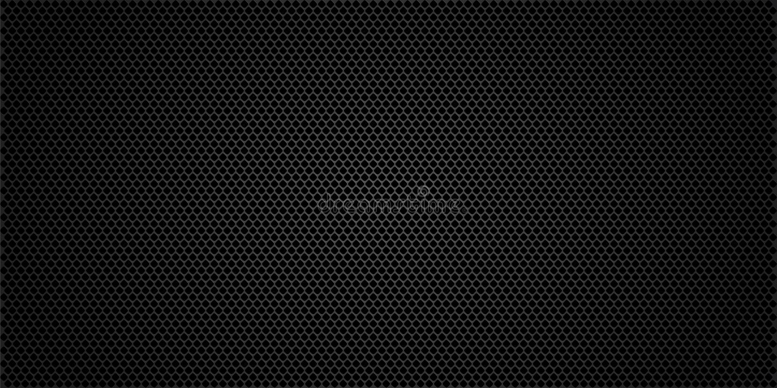 Black metallic abstract background, perforated steel mesh. Dark mockup for cool banners, vector vector illustration