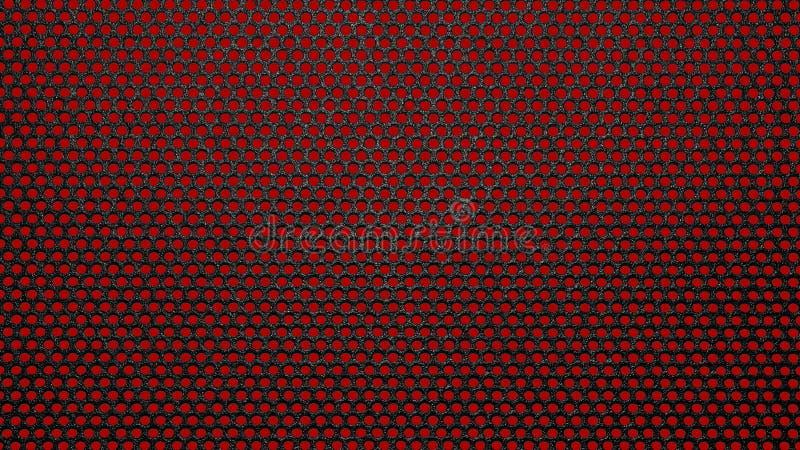 Black metaltraliewerk in een rode cirkel stock afbeeldingen