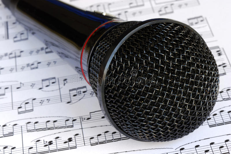 A black microphone stock image