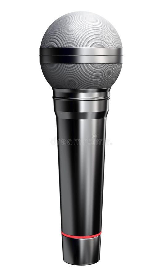 Download Black microphone stock illustration. Illustration of rendering - 25434040