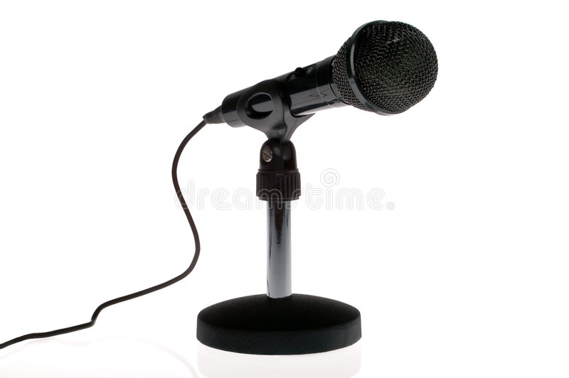 Black microphone royalty free stock image