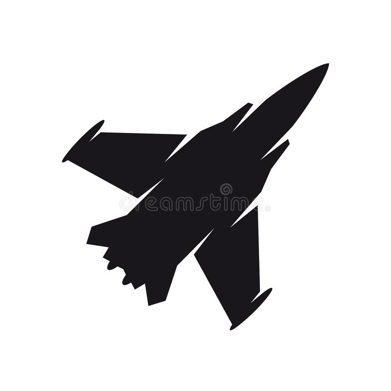 Free Black Military Aircraft Symbol. Fighter Jet, Aircraft Icon Or Sign Concept. Royalty Free Stock Photo - 152528945
