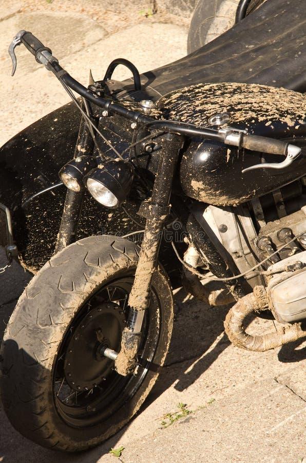 Black military motorcycle