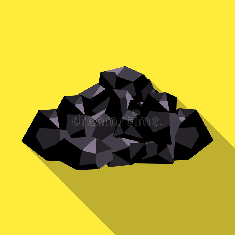 Black minerals from the mine.Coal, which is mined in the mine.Mine Industry single icon in flat style vector symbol stock illustration