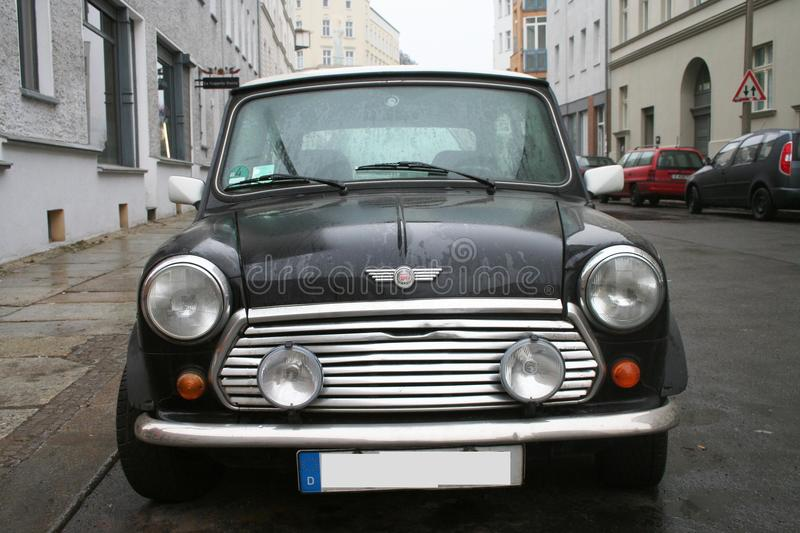 Black Mini Cooper. Parked in Germany stock photography