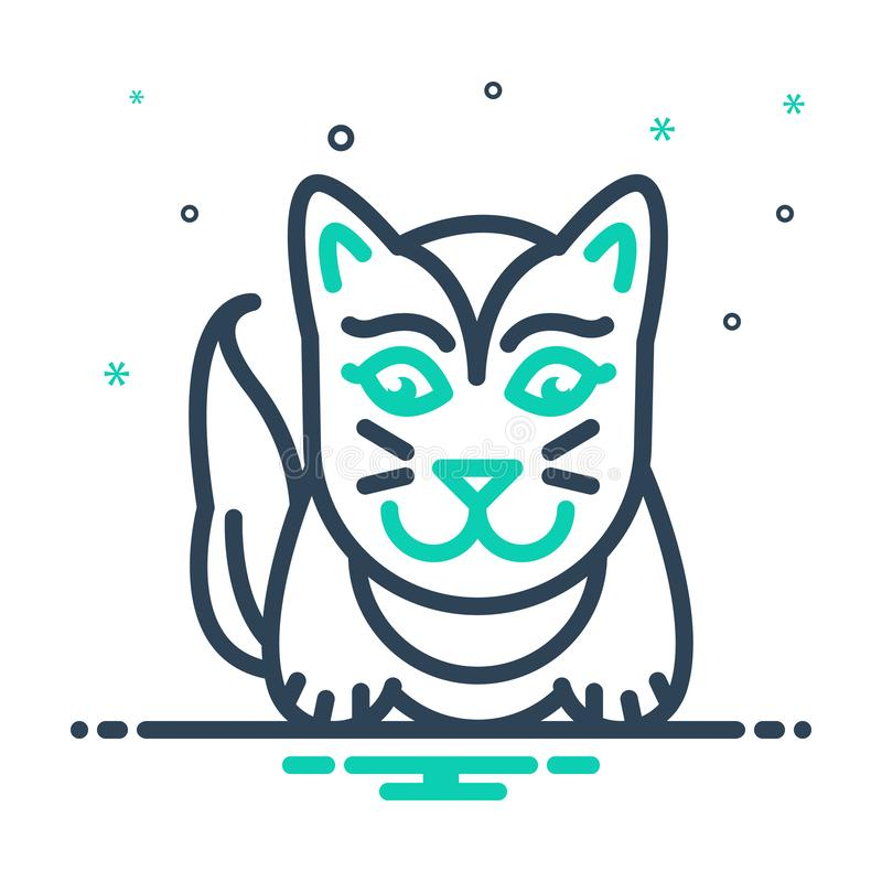 Black mix icon for Cute, lovable and sweet. Black mix icon for Cute, charming, likable, cat,  lovable and sweet royalty free illustration