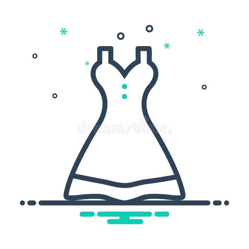 Black Mix Icon für Damen Kleid, Kleidung und Tuch stock abbildung