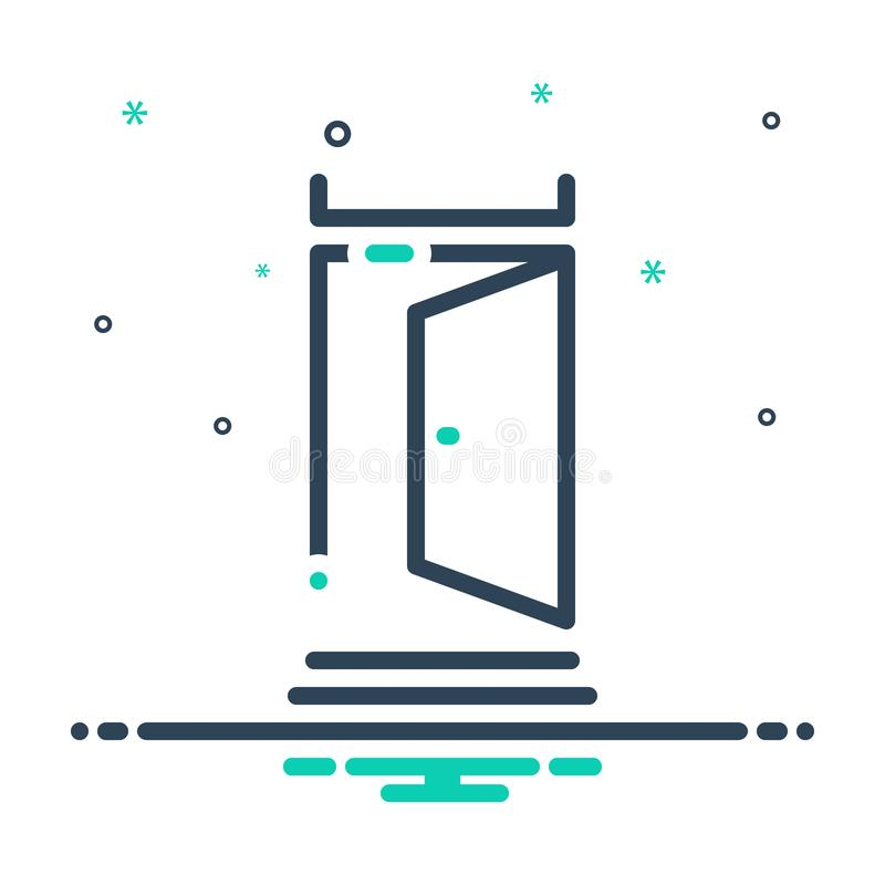 Free Black Mix Icon For Door, Portal And Gateway Stock Photos - 157623713