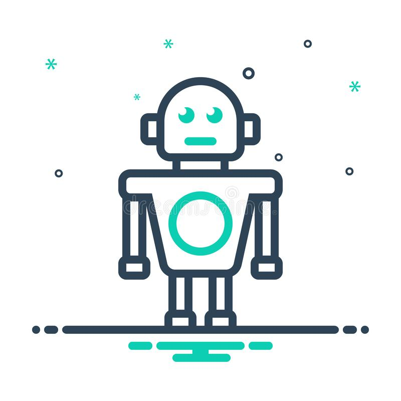 Free Black Mix Icon For Robot, Robotic And Automatic Royalty Free Stock Photos - 164183728