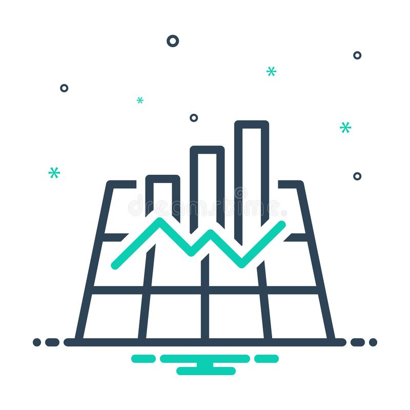 Black mix icon for Graph, chart and infographic. Black mix icon for Graph, data, user, logo,  chart and infographic vector illustration