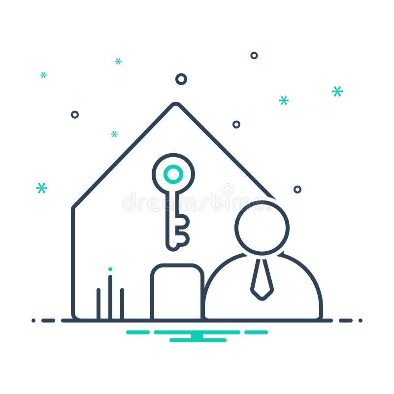 Black mix icon for Landlord insurance, accommodation and property. Black mix icon for Landlord insurance, policy, modern,  accommodation and property vector illustration