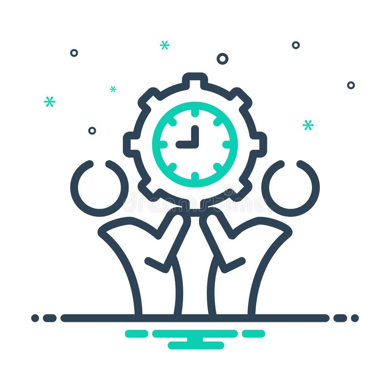 Black mix icon for Management, monograph and manage. Black mix icon for Management, kingcraft, controler, time, organization,  monograph and manage royalty free illustration