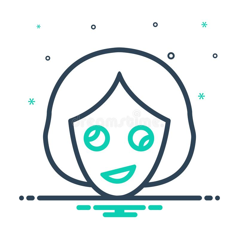Black mix icon for Oddity, abnormality and contrast. Black mix icon for Oddity, dissimilarity, woman,  abnormality and contrast vector illustration