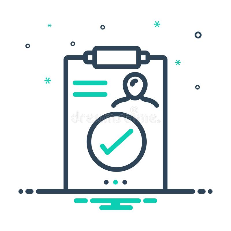 Black mix icon for Result, outcome and consequence. Black mix icon for Result, outgrowth, performance, miscellaneous, logo,  outcome and consequence vector illustration