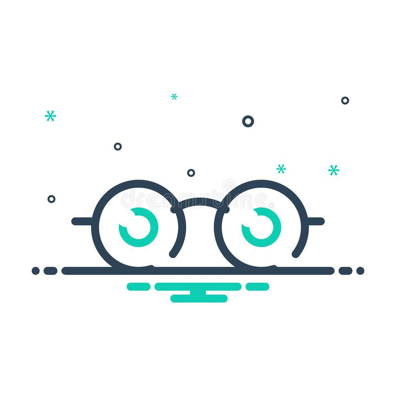 Black mix icon for See, view and sight. Black mix icon for See, look, watch, vision, eyesight, dristi, peep,  view and sight royalty free illustration