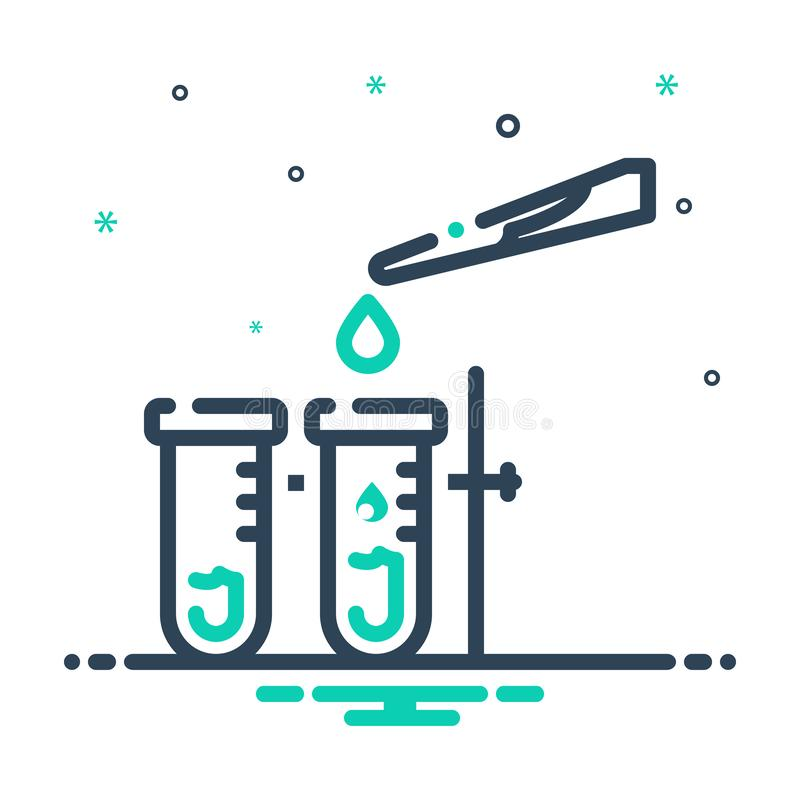 Black mix icon for Testing, calibrate and test. Black mix icon for Testing, check, laboratory, experiment,  calibrate and test vector illustration