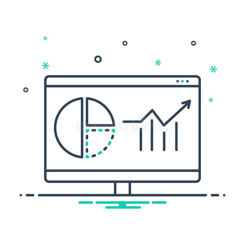 Black mix icon for Web analytics, web and usability. Black mix icon for Web analytics, marketing, infographic, logo,  web and usability stock illustration