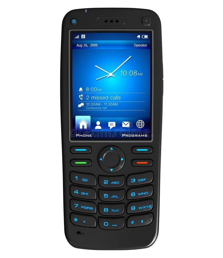 Download Black mobile phone stock illustration. Image of internet - 15156099