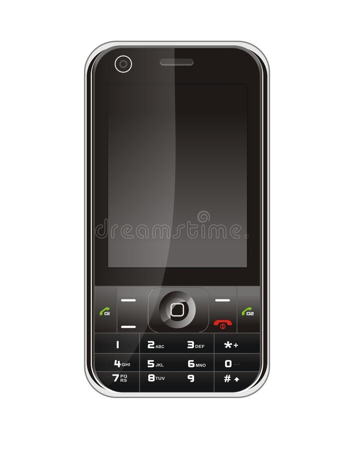 Black Mobile Phone Stock Image
