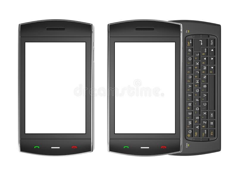 Black mobile smartphone - 3d render vector illustration
