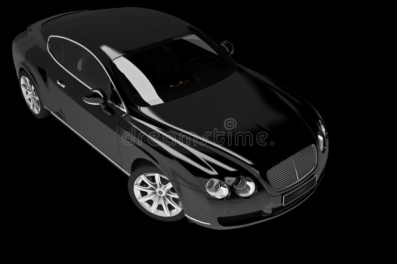 Black modern car vector illustration