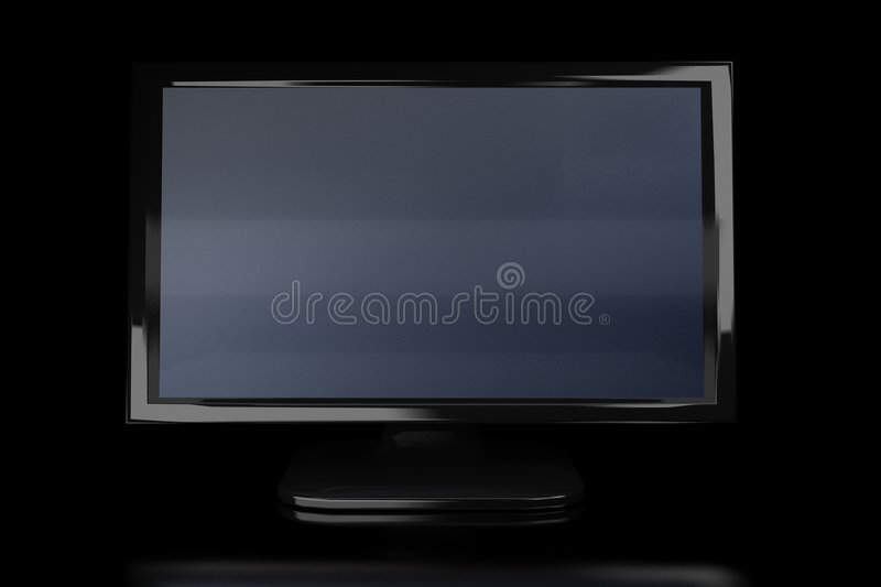 Download Black monitor in the dark stock photo. Image of receiver - 4880744