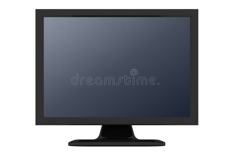 Download Black Monitor With Gray Shade Stock Illustration - Image: 3163262